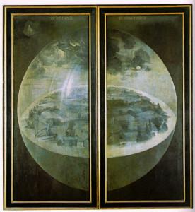 Le Jardin des Délices - triptyque fermé - 1503/1504